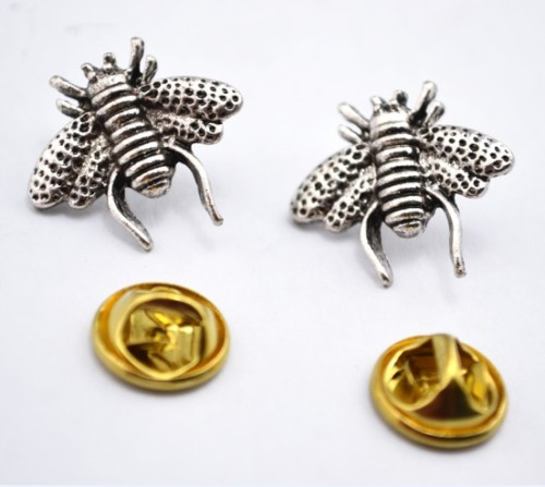 New Arrival  Fashion Bronze/Gold/Silver Metal  Lovely Bee Collor Pin Brooch P-0035