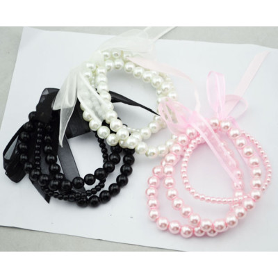 New 3 Colorful Optional 3Pcs set silk Bowknot Bracelet B-0238