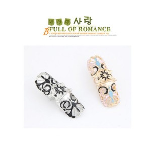 Punk rock Style gold silver plated enamel butterfly knuckle Finger Ring R-0234