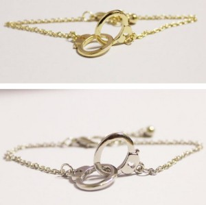 Fashion silver Golden Metal handcuffs  bracelet adjustable B-0281