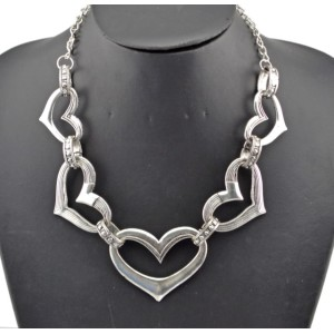New Arrival Vintage Style Bronze/Silver Plated Alloy Heart Choker Necklace N-4852