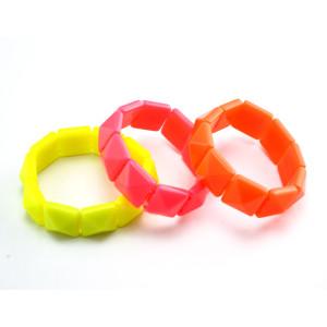 Fashion resin gem rivet  stretch bracelet B-0283