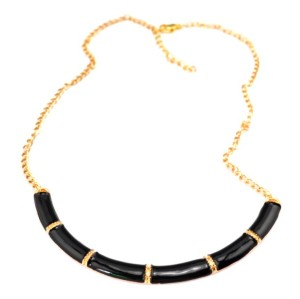 New Fashion Gold Plated Alloy Enamel Crescent Choker Necklace N-4861