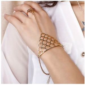 New Fashion European Punk Style Gold Silver Plated Alloy Hollow Out Crown Ring Bracelet B-0299