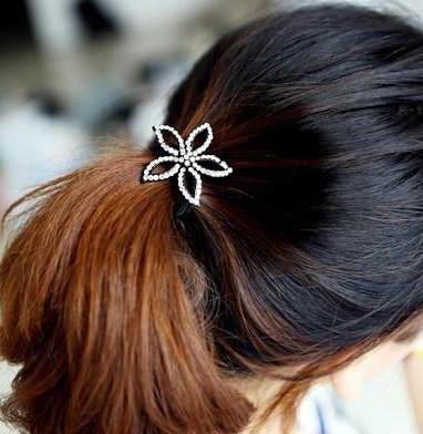 New Fashion Korea Style black metal Clear Rhienstone Crown Heart bowknot Flower Hair Band F-0102