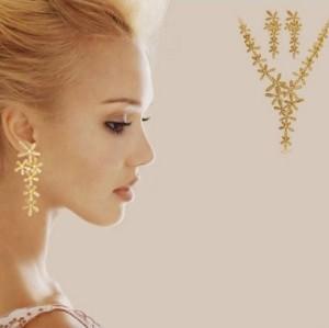 European fashion style gold silver plated rhinestone flower Choker Necklace wedding jewellery N-0161