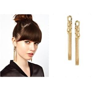 New Fashion European ASOS star Style Golden plated alloy Stud Dangle tide female Earrings E-2102