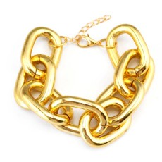New Fashion European Style Silver/Gold Plated Alloy  Link Hoop Chain choker Necklace Bracelet Set S-0070