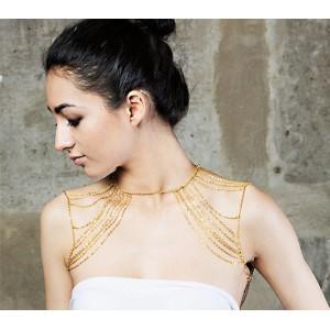 New Fashion European Style Gold/Gun Black  Plated Alloy Chains Tassels Body Chain N-3039