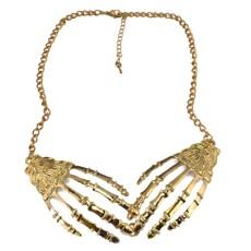 N-2908 Fashion Punk Skull  Claws Choker Collar Necklace