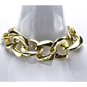 N-1619 New European Style  Exaggerated Simple Thick Gold Plated Alloy Choker Necklace