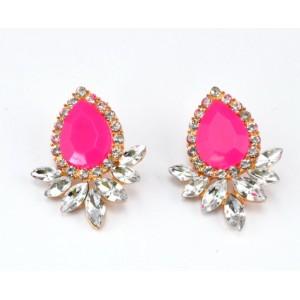 E-2119 Fashion exquisite crystal water drop earrings for women