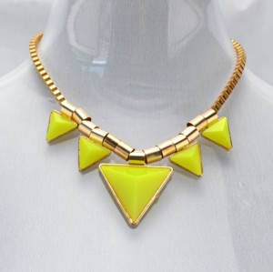 N-4274 NEW Women's Triangle Punk Statement Chains Necklaces