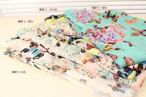 Women's Colorful Butterfly Patterned Fashion Scarf C-0041