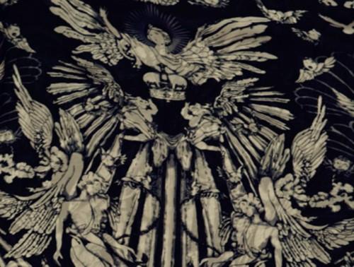 Big angel skeleton large black-and-white stereo tassel design manual clasp chiffon scarf shawl C-0050