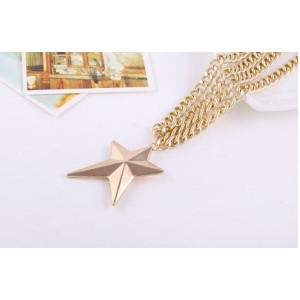 European ancient style fashion Golden star pendant multilayer long sweater thick chain necklace N-1628