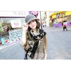 Korea fashion styles Silk chiffon star scarves shawl C-0056