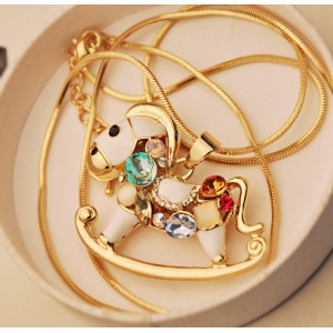 NEW European Colorful Horse Pony Animal Pendant Necklace N-3420