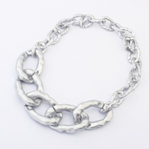 N-1629 New european style plastic 3 colors link chain necklace hot sale