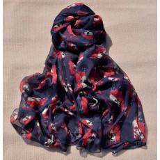 C-0061 Korea fashion styles  chiffon skull rose flower square scarves shawl