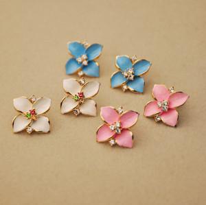 E-2135korea style Four blossom exaggerated lovely earrings  for women