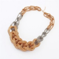 N-1360 New Arrival Fashion Gold Silver Plated Metal Hollow Out Link Snake Chain Necklace