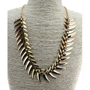 N-3512 Fashion charming gold chain leaves shape pendant necklace for women
