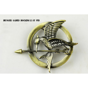 P-0113 New Arrival Hunger Games Mockingjay Brooch Pin