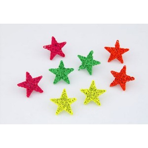 E-1698 Charming European Style Lovely Fluorescence Colorful Star Ear Stud Earrings