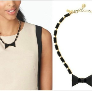 S-0092 New Arrival Charming Fashion Black Resin Square Bowknot Choker Necklace Bracelet Set