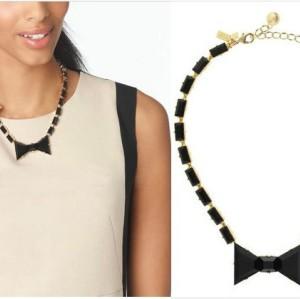 S-0092 New Arrival Charming Fashion Black Resin Square Bowknot Choker Necklace Bracelet Set