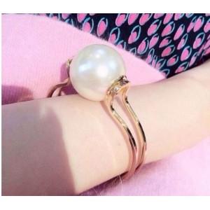 B-0330 Fashionable korea style black white big pearl ball bangle cuff opened