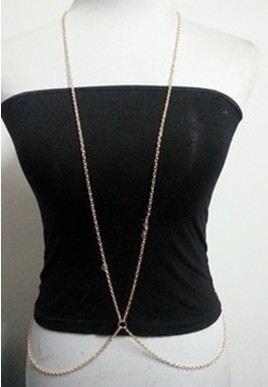 N-3622 Fashion Gold Plated Alloy Shoulder Chain Body Chain