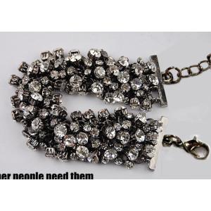 B-0054 Fashion Gun black Rhinestone Pure Handcraft Bracelet