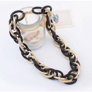 N-3626 New European Style Hoop Link Chain Choker Necklace