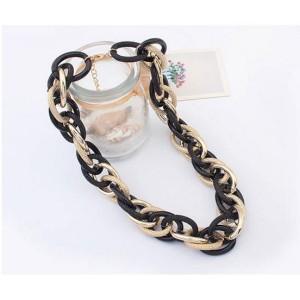 N-3626 New European Style Hoop Link Chain Choker Necklace