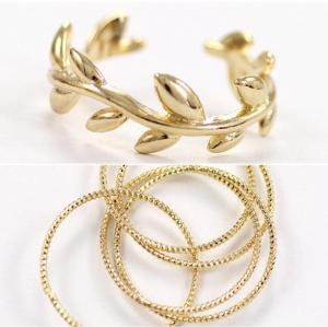 R-1128 Korea Style Silver gold Plated Alloy Circles Opened Leaves  Rings Set 2 Colors