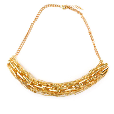 N-3836 European Style Gold Plated Alloy Snake  Link Chain Choker Necklace