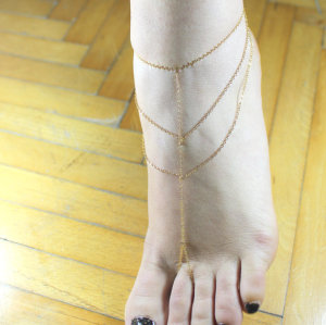 B-0351 Gold Plated Chain Anklets chain Bracelet