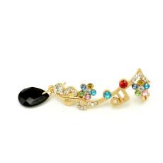 E-3165 Korea style gols plated alloy color left ction ear clip earrings