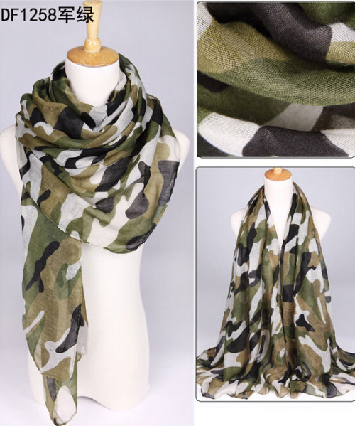 C-0068  New Coming camouflage pattern rectangle Scarves Shawl
