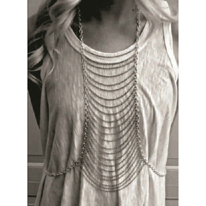 N-3994 Europea style silver/gold  link chain long chain body jewelry for women