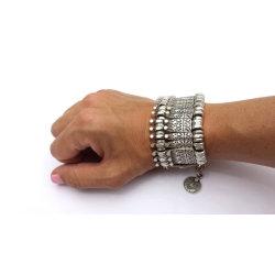 B-0387 * Bohemian Antalya Bracelet,Golden, Silver, Gypsy, Statement, Boho Coachella, Festival Turkish Jewelry, Sinaya, Tribal Ethnic