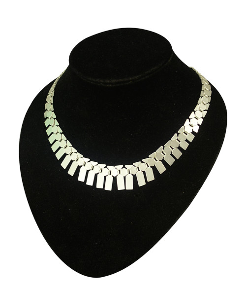 N-5081 Vintage style high quality silver gold chunly chain cute bib choker necklace
