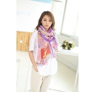 C-0075  New Arrival Famous Brand Horse Animal  Print Cotton Linen Soft Long Scarves Shawl 4 Colors Women