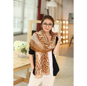 C-0070  New Arrival Famous Brand Zebra  Cotton Linen Soft Long Scarves Shawl 3 Colors Women Costume Accessories