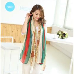 C-0081  New Arrival Famous Brand Charming Cotton Soft Geometry Print  Scarf Shawl 4 Colors Women 180cm*90cm