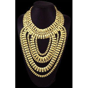 N-5162 European Style Fashion Big Mainstream Necklace Alloy Gold Plated Chain Tassel Exaggerated Long Sweater Chain Statement Necklace