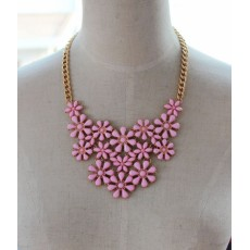 N-5186  European style fashion exaggerated alloy flower necklace gold plated F21 new Tanabata gift fashion necklace