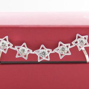 E-3301 Korea fashion silver plated five star rhinestone crystal ear cuff clip